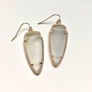 Kendra Scott Grey Arrowhead Earrings